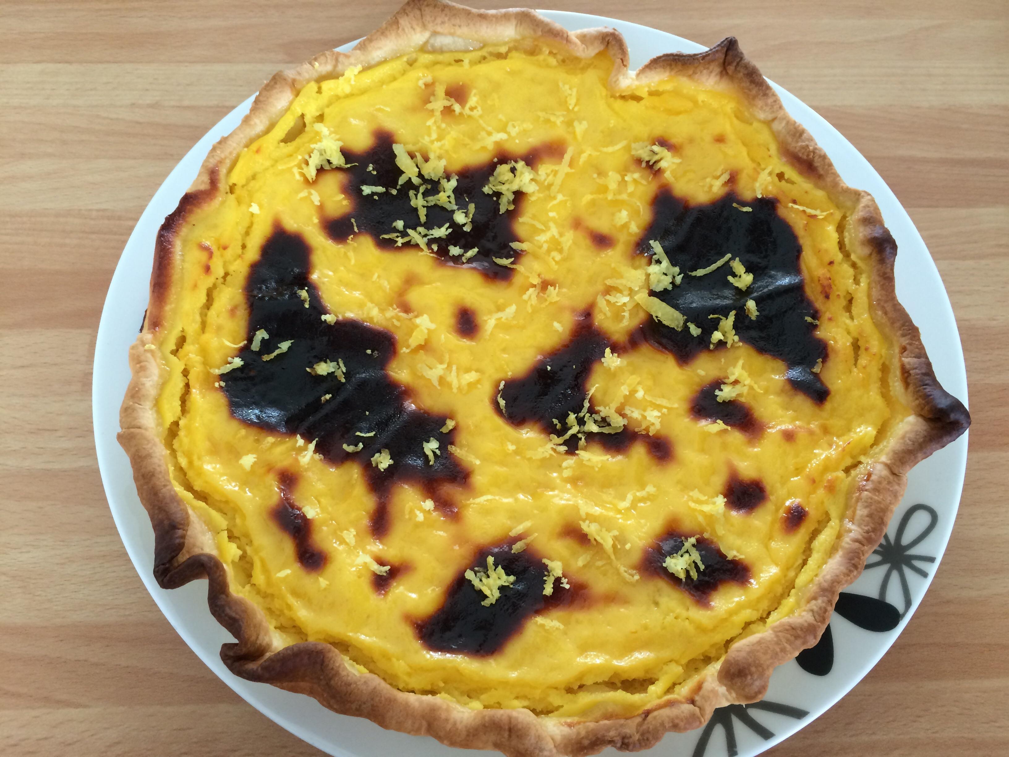 Tarte au citron vert et au fromage blanc