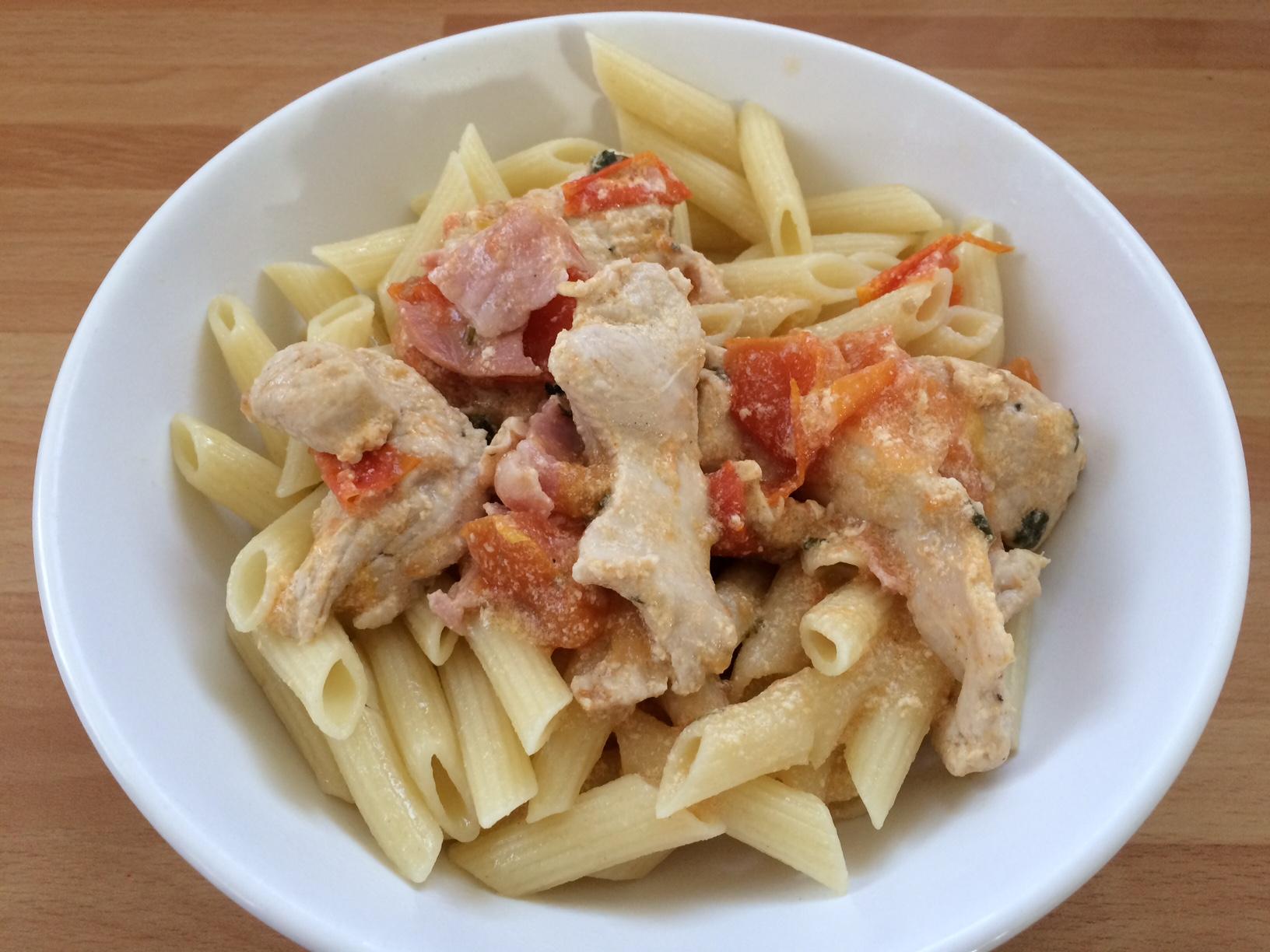 Pate au poulet et bacon