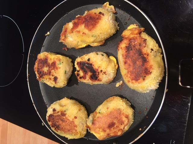 croquettes de pomme de terre panees