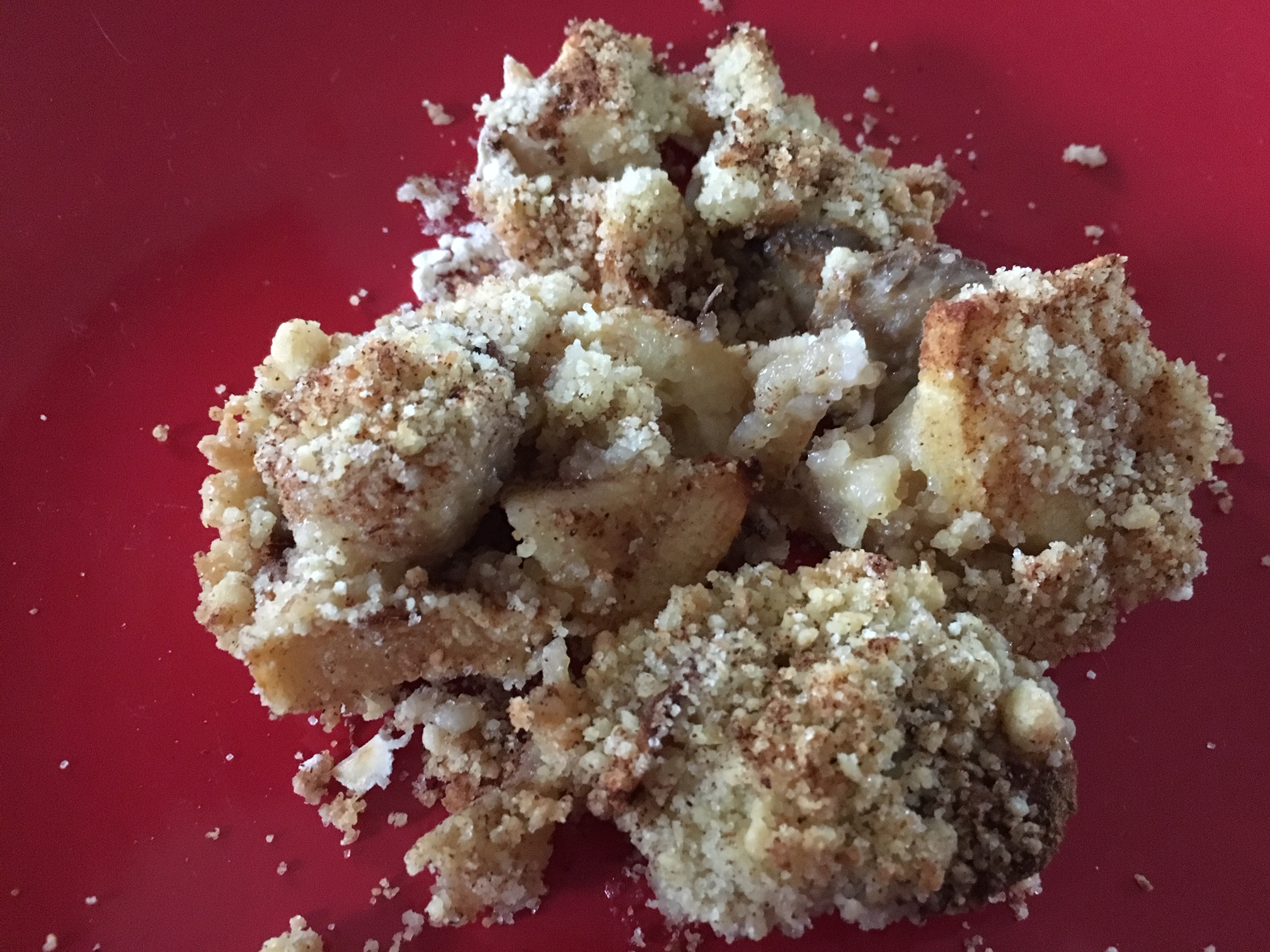 crumble pomme banane cannelle